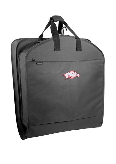 NCAA Arkansas Razorbacks 40 Inch Suit Length Garment Bag with Pockets