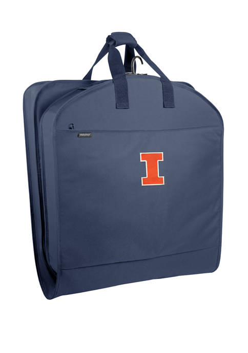 NCAA Illinois Fighting Illini 40 Inch Suit Length Garment Bag with Pockets