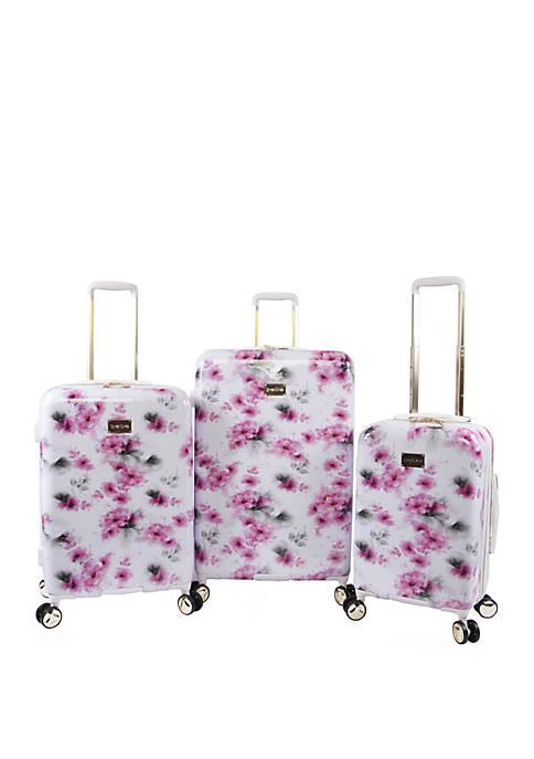 Bebe Juliette 3 Piece Spinner Suitcase Set