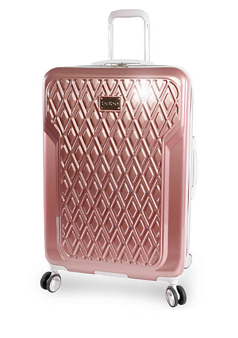 Bebe Stella Hardside Spinner Checked Luggage