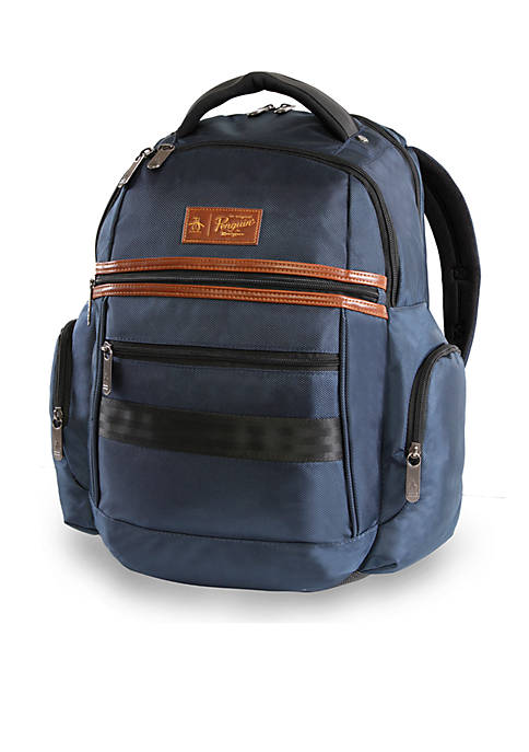 Original Penguin Classics 6-Pocket Laptop/Tablet Backpack