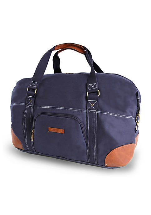 Perry Ellis® Carry-On Weekender Canvas Duffel Bag