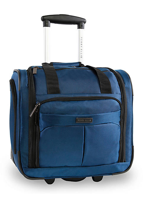 Perry Ellis® Excess 9-Pocket Underseat Rolling Tote Carry-On