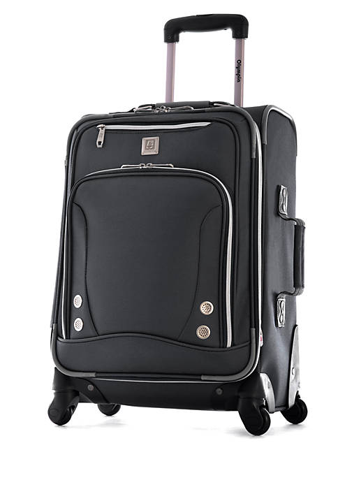 Olympia Luggage Skyhawk Upright Spinner Black 21-in. x