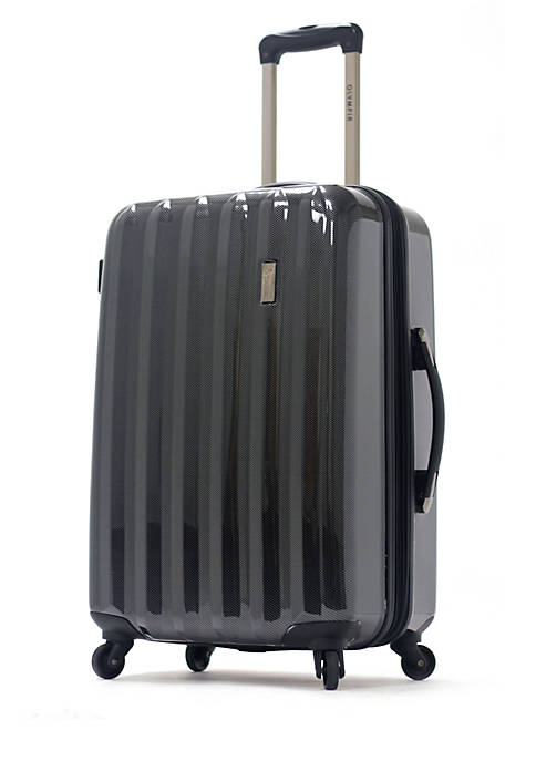 Olympia Luggage Titan Black 25-in. Hardside Spinner