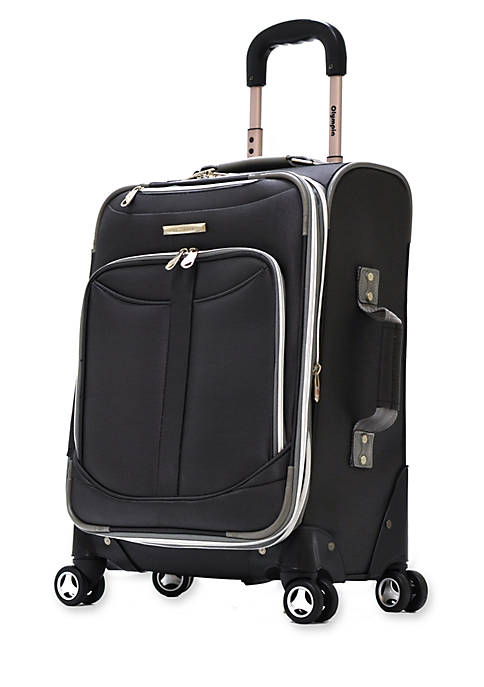 Olympia Luggage Tuscany Upright Spinner Black 21-in. x