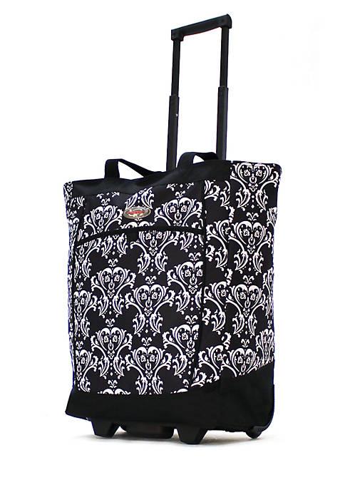 Olympia Luggage Fashion Rolling Shopper Tote