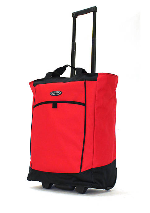 Olympia Luggage Fashion Rolling Shopper Tote