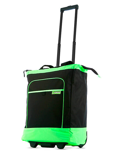 Olympia Luggage Deluxe Rolling Shopper Tote