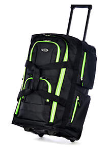Olympia Luggage 22-in. 8-Pocket Rolling Duffle - Online Only
