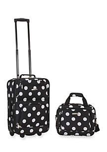 2 Piece Luggage Set - Black Dot