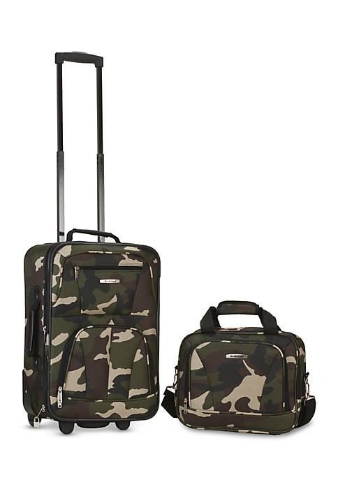 2 Piece Luggage Set - Camo
