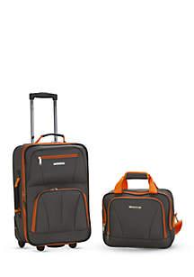2 Piece Luggage Set - Charcoal