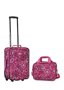 2 Piece Luggage Set - Pink Bandana