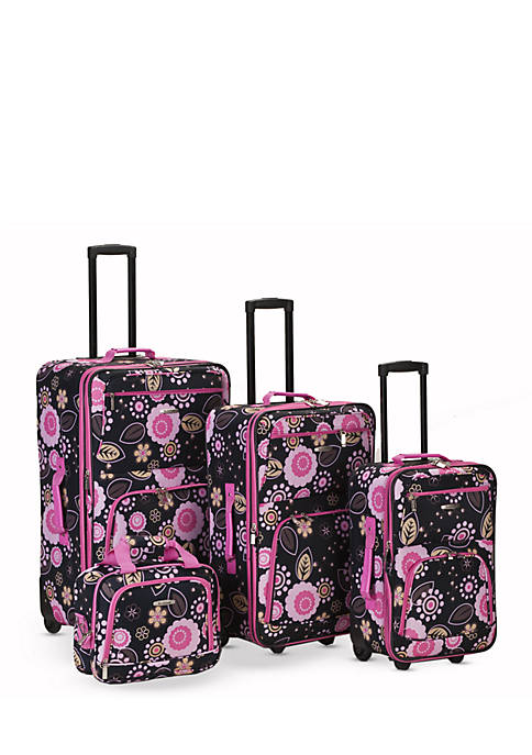4-Piece Printed Luggage Set - Pucci