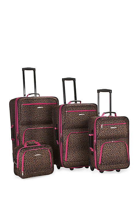 Rockland 4 Piece Printed Luggage Set