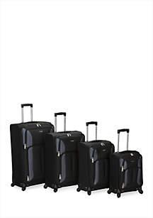 4-Piece Impact Spinner Luggage Set - Black