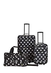 3 Piece Luggage Set - Black Dot
