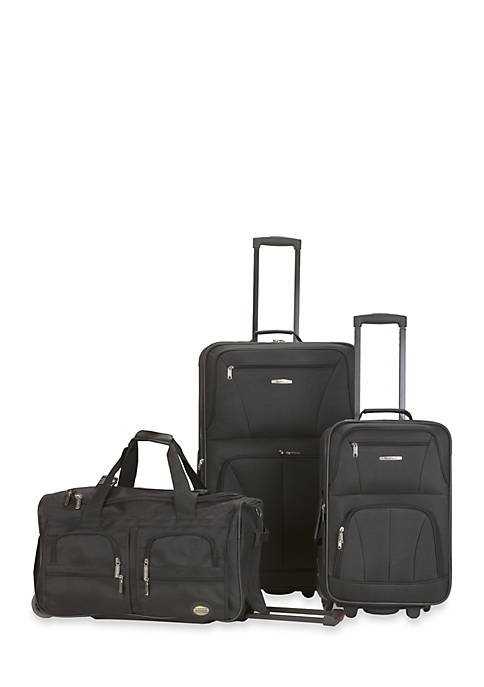 3 Piece Luggage Set - Black
