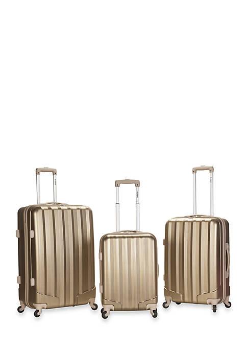 3 Piece Metallic Luggage Set - Bronze