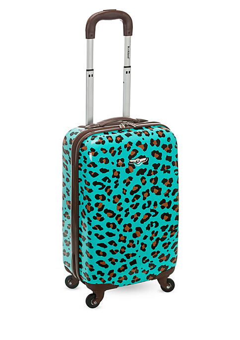 Rockland 20-in. Carry On Blue Leopard