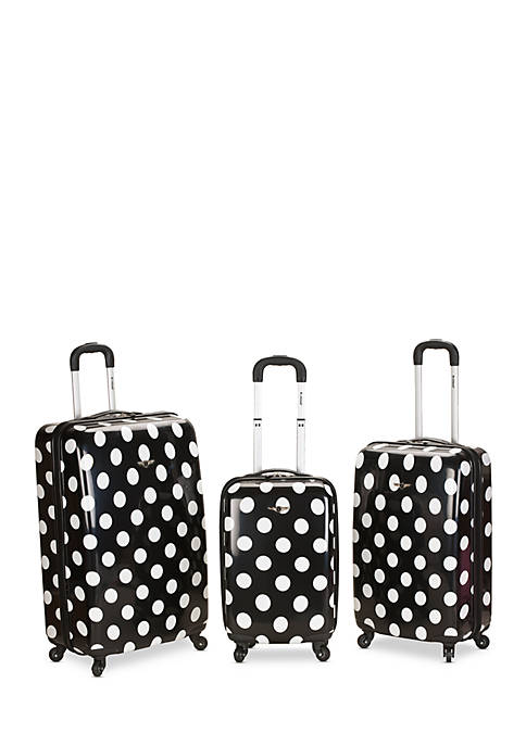 Rockland 3 Piece Laguna Beach Spinner Luggage Set