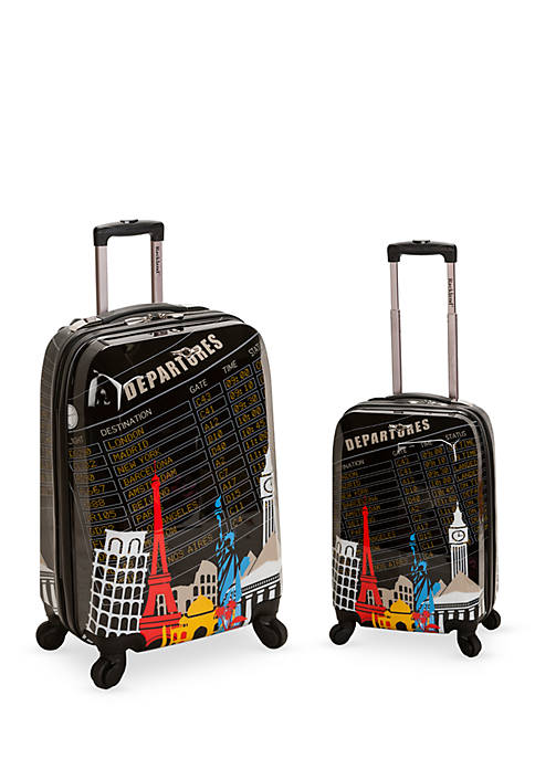 2 Piece Polycarbonate/ABS Upright Luggage Set