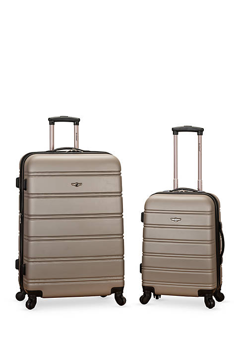 Rockland 2 Piece Expandable ABS Spinner Set
