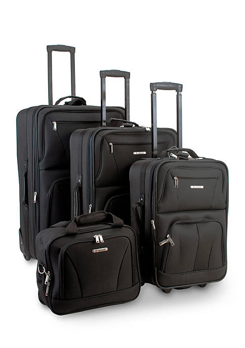 4 Piece Luggage Set - Black
