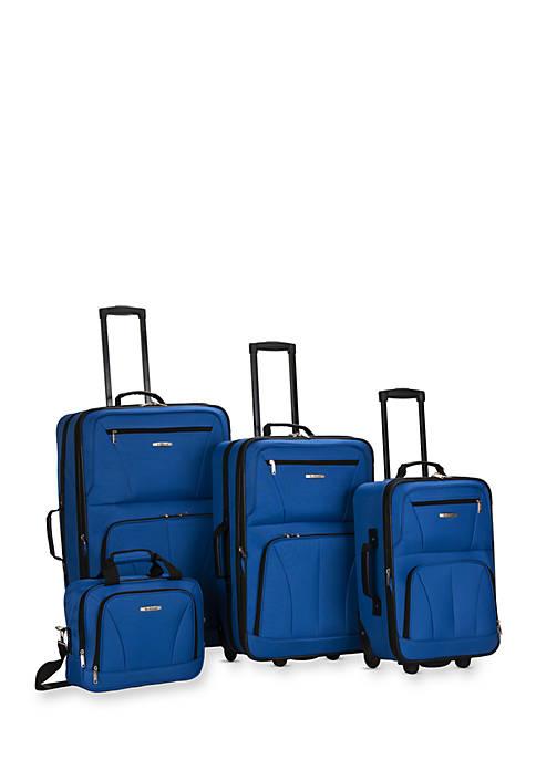 4 Piece Luggage Set - Blue