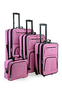 4 Piece Luggage Set - Pink