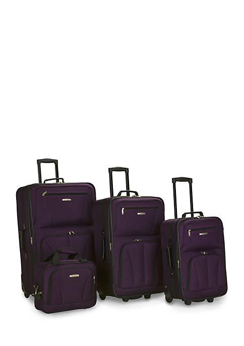 4 Piece Luggage Set - Purple