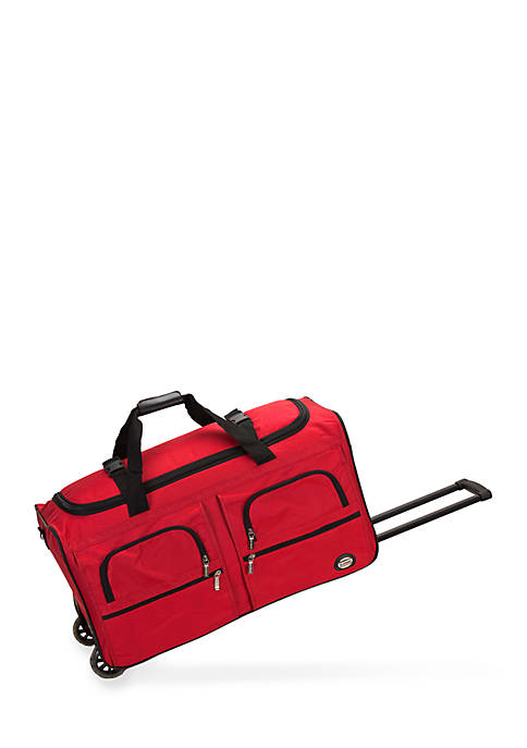 Rockland 36-inch Rolling Duffle in Red