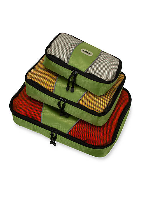 Rockland Packing Cubes Set of 3 in Lime
