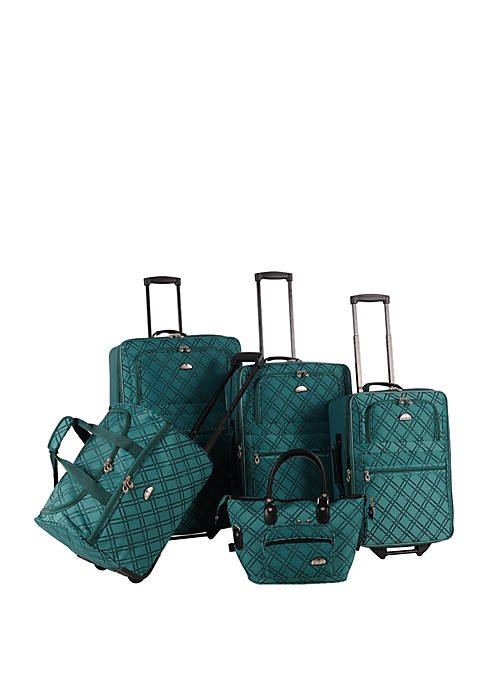 Pemberly Buckles 5-Piece Luggage Set