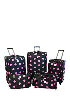 Jenni Chan™ Dots Luggage Collection - Black Pink