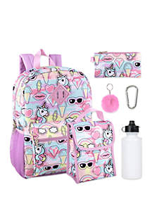 Lightning Bug 6 in 1 Ice Cream Backpack Set