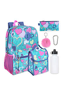 Lightning Bug 6 In One Hearts Backpack