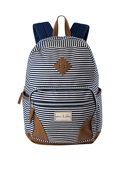 Kelty® Emma & Chloe Cotton Navy Stripe Backpack