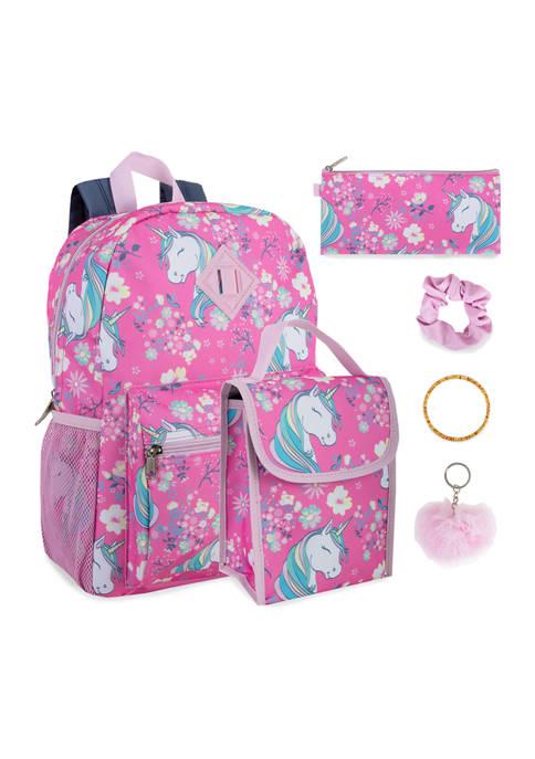 Unicorns 6 in 1 Backpack Set