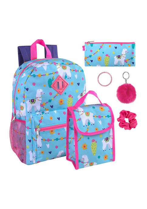 Llamas 6 in 1 Backpack Set