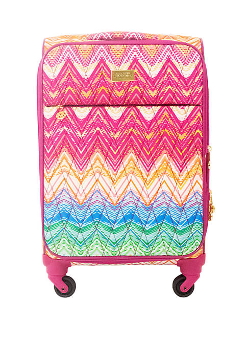 Chevron 21 in Soft Sided Rolling Luggage Suitcase