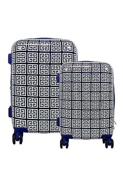 Geo Print 2-Piece Rolling Suitcase Set