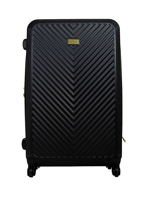 Black Molded Quilt Rolling Luggage