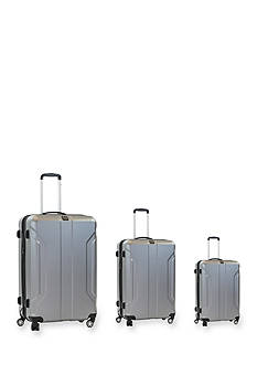 ful® Three Piece Payload Series Hard Case Spinner Upright Luggage In Silver