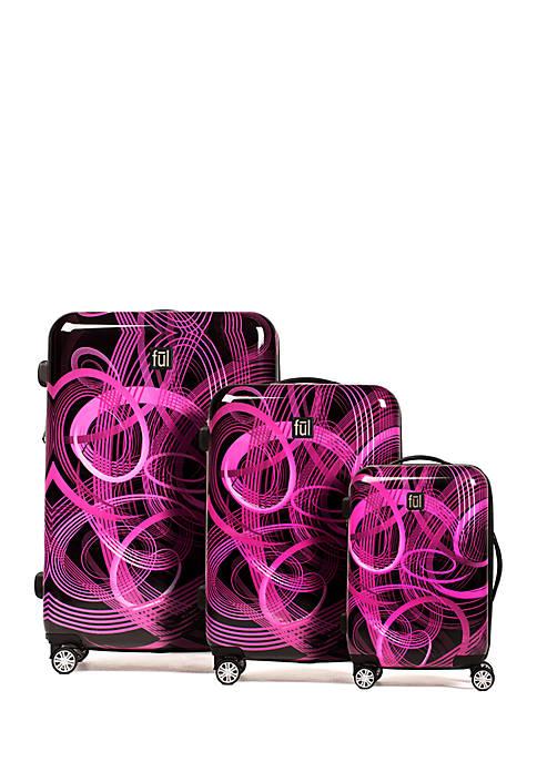 ful® Atomic Nested 3-Piece Luggage Set