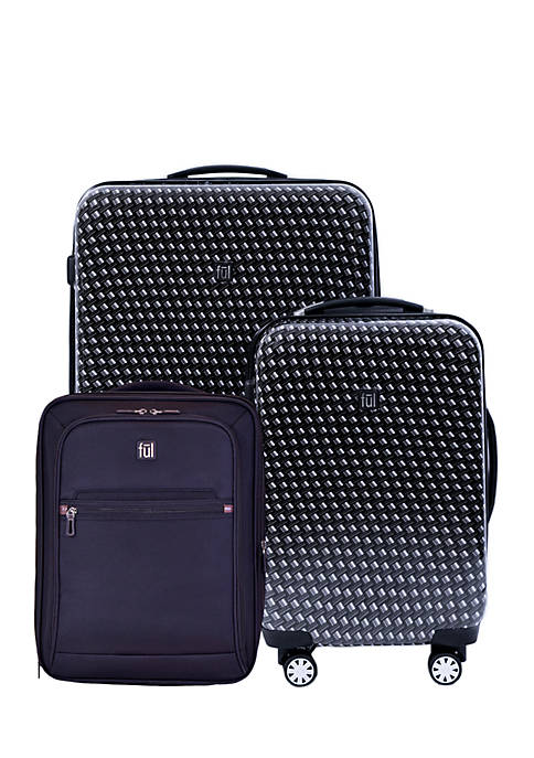 ful® Metal Chain Swirl 3 Piece Luggage Set