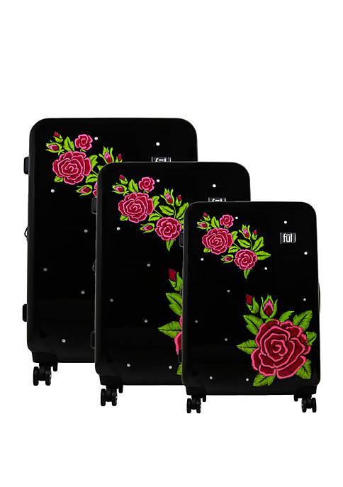 ful® Printed Rose 3-Piece Luggage Set