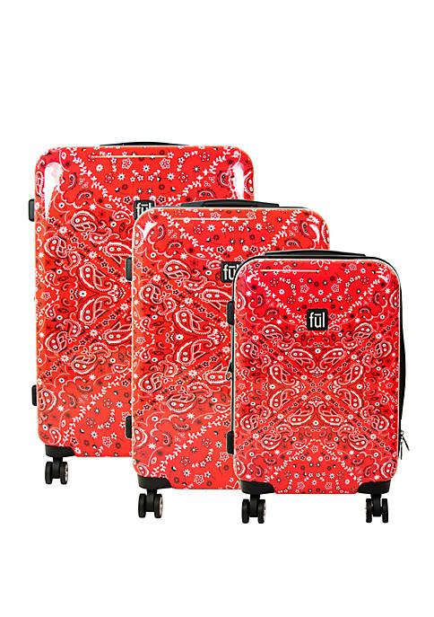 Printed Bandana 3-Piece Luggage Set