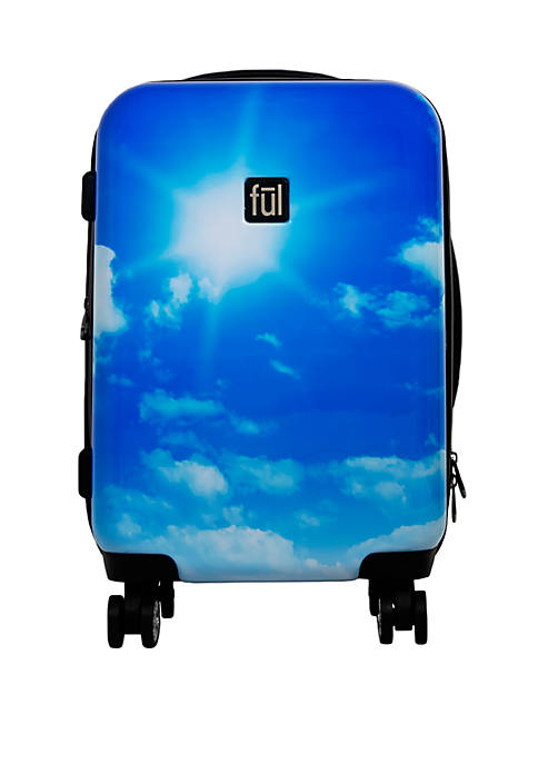 ful® Printed Blue Sky Hard Sided Rolling Luggage